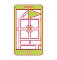 smartphone gps navigation map and pin flag marker vector image