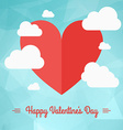 St Valentines day greeting card in flat style A vector image vector image