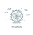 The London Eye flat line vector image vector image