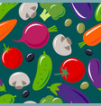 vegetables mix seamless pattern vector image