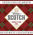 vintage scotch poster vector image vector image