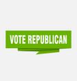 vote republican vector image vector image