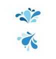 water splash icon vector image