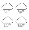 weather nature icon line set vector image