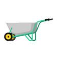 wheelbarrow garden isolated grounds trolley vector image vector image