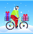 woman cyclist ride bicycle transportation gift vector image vector image