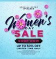 womens day sale design with beautiful colorful vector image vector image