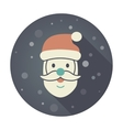 Santa Claus face Christmas icon vector image