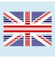 british flag grunge vector image