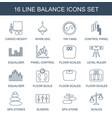 16 balance icons vector image vector image