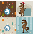 a set of horses in the vector image vector image