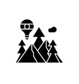 adventure black icon sign on isolated vector image vector image