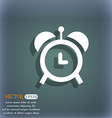 alarm clock icon On the blue-green abstract vector image vector image