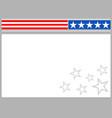 american flag symbols frame border background vector image vector image