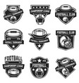 american football emblems design element for logo vector image vector image