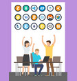 bitcoin successful start up currency vector image vector image