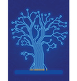 Blue Technology Tree vector image vector image