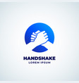 bro handshake abstract sign symbol or logo vector image vector image