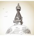 buddhist stupa vector image