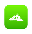 canadian mountains icon digital green vector image