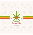 Cannabis Medical vector image vector image