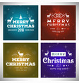 chrismtas typographic sets vintage vector image vector image