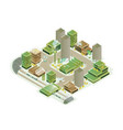 colorful smart city isometric model vector image vector image