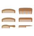 comb barber comb wooden comb isolated on a vector image