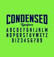 Condensed typeface