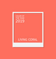 coral color trend palette living coral color of vector image