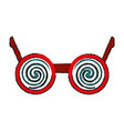 crazy glasses funny or joke item icon image vector image vector image