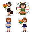 cute little beautiful girl vector image vector image