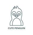 cute penguin line icon cute penguin vector image vector image