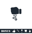 Donation icon flat vector image vector image