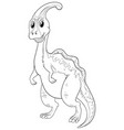 doodle animal for cute dinosaur vector image vector image