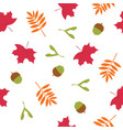 falling autumn leaves seamless cartoon vector image