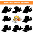 find correct shadow game for children young vector image vector image