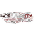 firms word cloud concept vector image vector image
