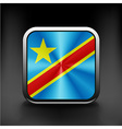 Flag of the Democratic Republic of the Congo vector image