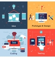 Flat Programm Development Icon Set vector image vector image