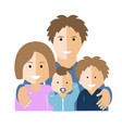 flat with parents and children vector image