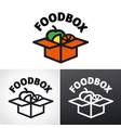 food box logo vector image vector image