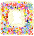 frame flower romantic vector image vector image