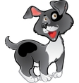 Fun black dog vector image vector image