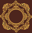 Golden Circle Ornament vector image vector image