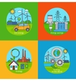 Green energy and ecology concept icons vector image vector image