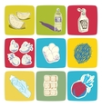Hand drawn food icons vector image