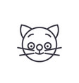 happy cat emoji concept line editable vector image vector image