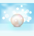 huge white shiny pearl vector image vector image