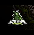iguana mascot sport logo design vector image vector image